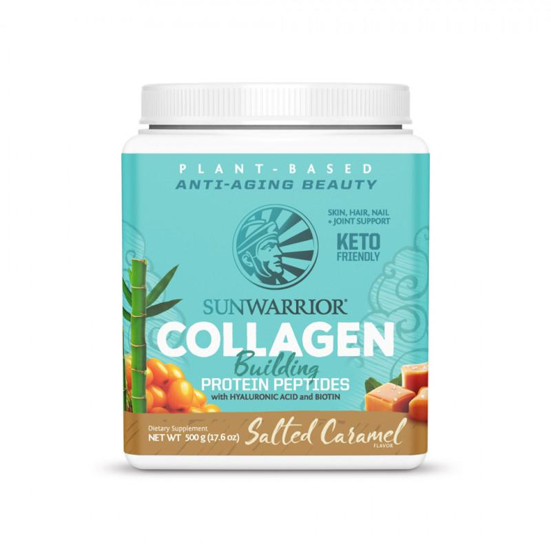 Sunwarrior collagen building protein peptides 500 g salt karamel - Naturens apotek