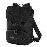 The Black Glitter Dancer Backpack