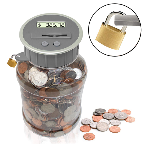 Locking Coin Bank Jar