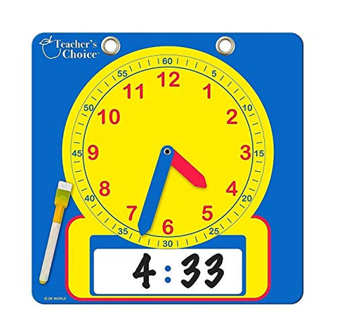 Paper Demonstration Clock with Erasable Surface