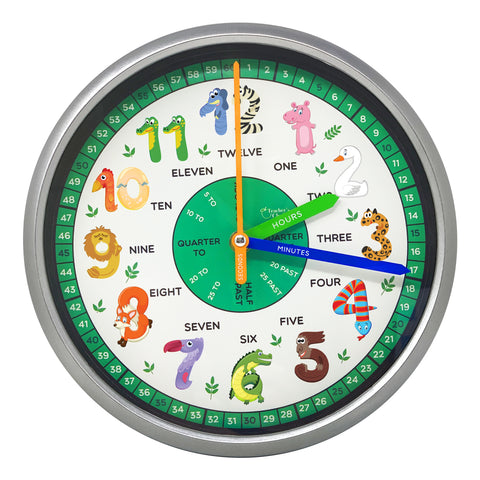 Teaching Clock, Animals