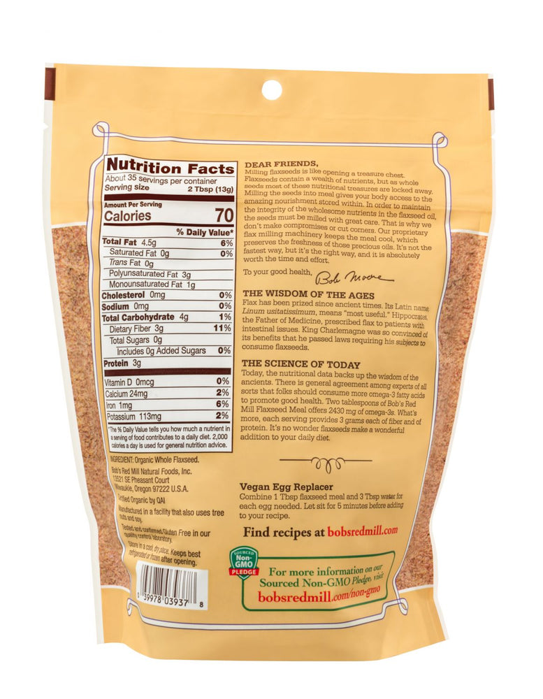 Load image into Gallery viewer, Organic Brown Flaxseed Meal (16 oz)