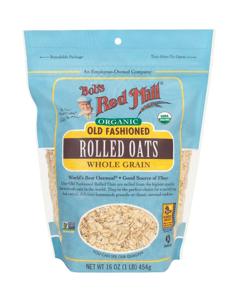 Load image into Gallery viewer, Organic Rolled Oats (16 oz)