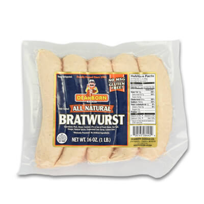 Bratwurst, All-Natural (5-Pack)