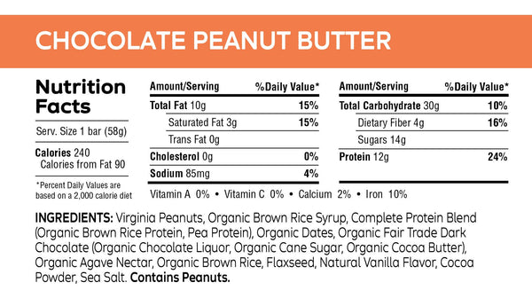 Chocolate Peanut Butter Bar - 2.05 oz