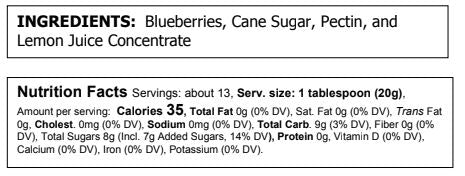 Load image into Gallery viewer, Blueberry Preserves (9 oz)