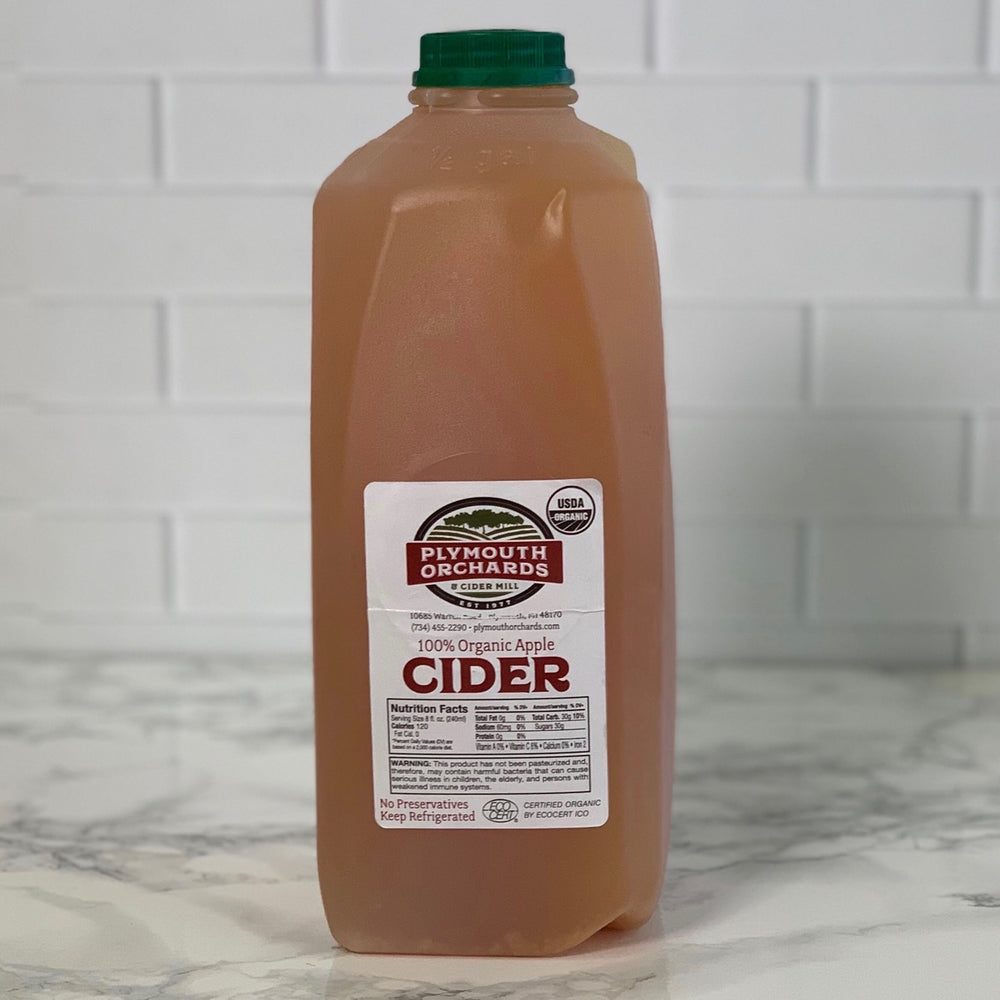 Organic Fresh Apple Cider (Half Gallon)
