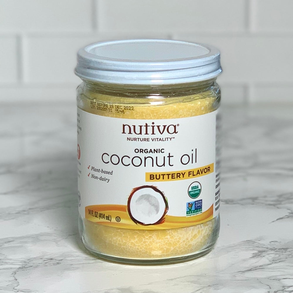 Organic & Fair-Trade Coconut Oil with Butter Flavor (Various Sizes)