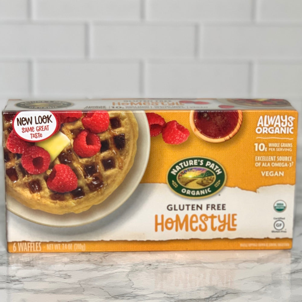 Load image into Gallery viewer, Organic Homestyle Waffles, Frozen (6 Waffles, 7.4 oz)