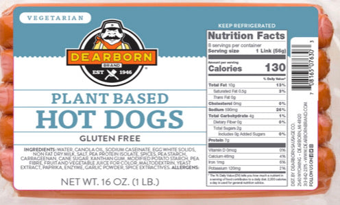 Plant Based Hot Dogs (8-Pack)