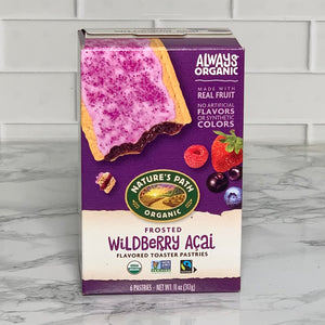 Load image into Gallery viewer, Organic Wildberry Acai Toaster Pastries (6 Pastries, 11 oz)