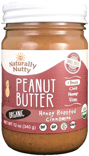 Load image into Gallery viewer, Organic Honey Roasted Cinnamon Peanut Butter (12 oz)
