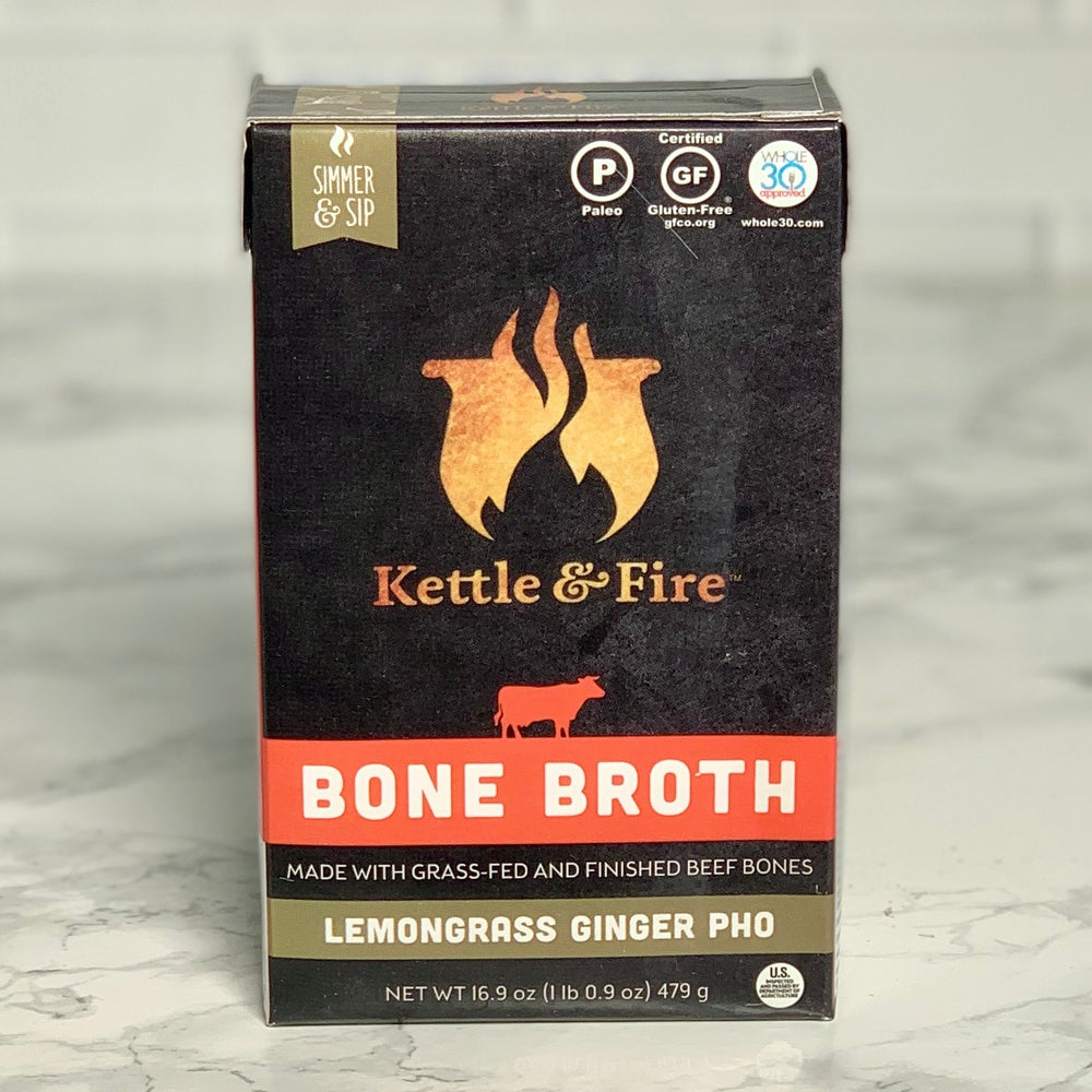 Lemongrass Ginger Pho Beef Bone Broth (16.9 oz)