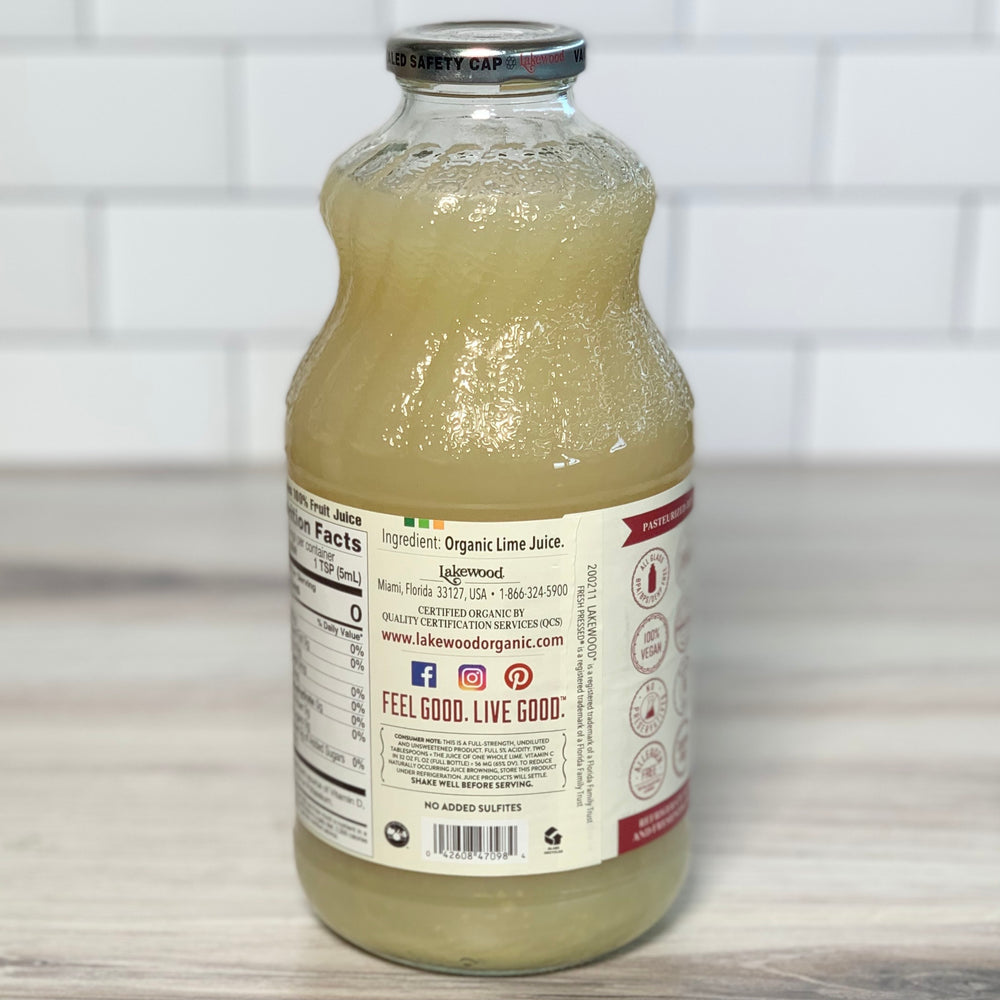 Load image into Gallery viewer, Organic Lime Juice (32 oz)
