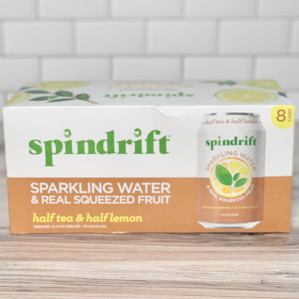 Organic Half & Half (Tea & Lemon) Sparkling Water (8 pack)