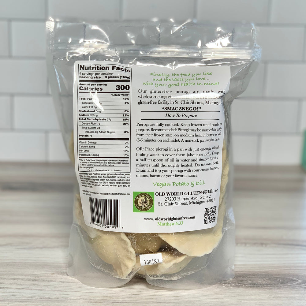 Load image into Gallery viewer, Vegan Potato & Dill Pierogi, Gluten-Free (21 oz)