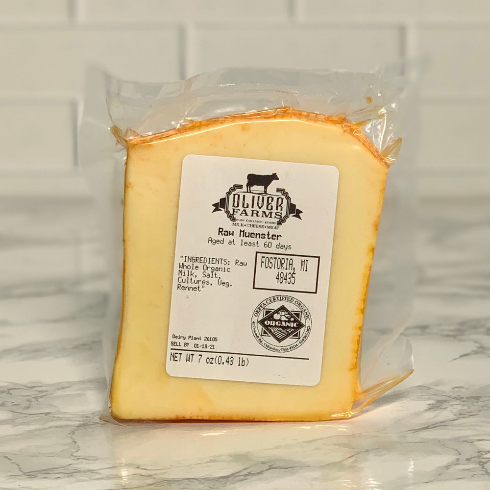 Organic Raw Muenster Cheese (7-8 oz)