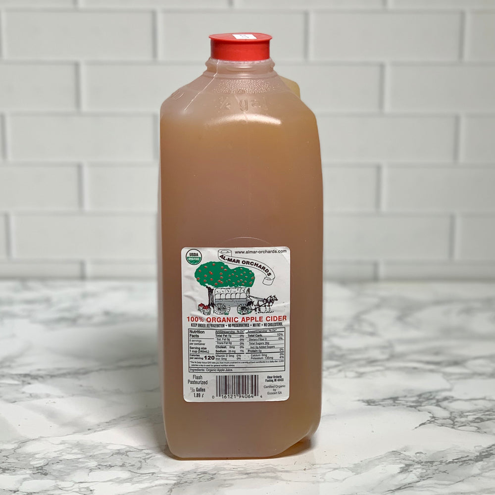 Load image into Gallery viewer, Organic Fresh Apple Cider (Half Gallon)