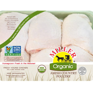 Load image into Gallery viewer, Organic Chicken Thighs, Frozen (Bone-In, Skin-On)
