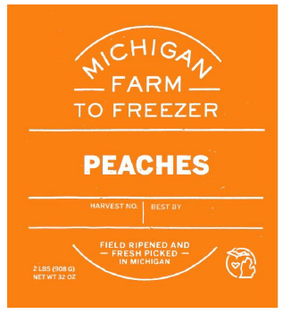 Frozen Peaches Slices - 2lb bag