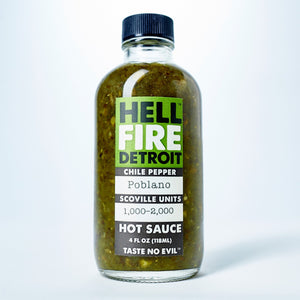 Load image into Gallery viewer, Poblano Hot Sauce (4 oz)