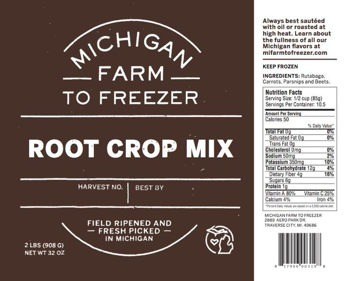Frozen Organic Root Crop Mix - 2 pound bag