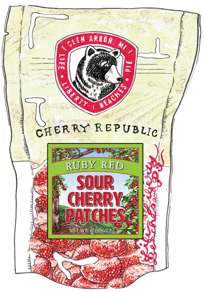 Ruby Red Sour Cherry Patches - 8oz