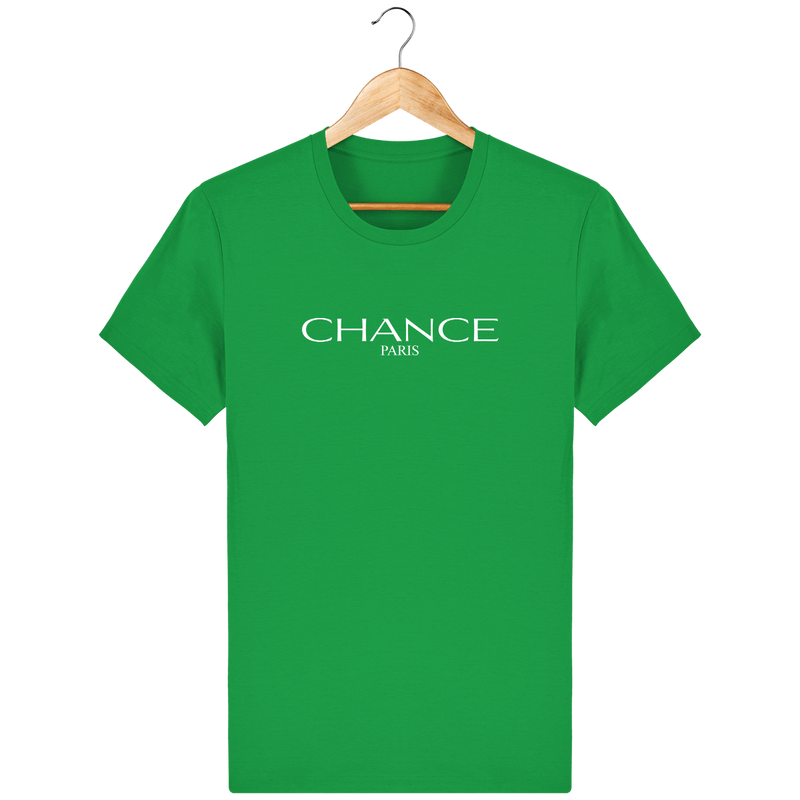 Chance Paris Men T-Shirt White Embroidered Logo