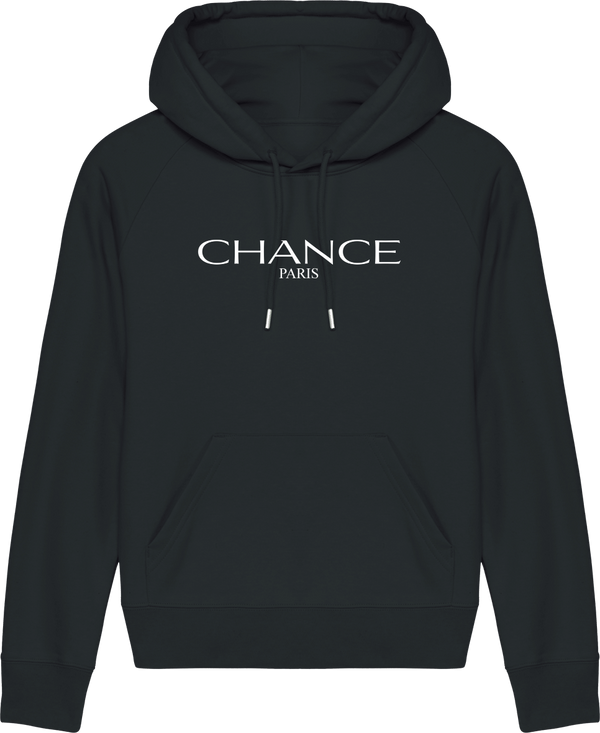 Chance Paris Women Hoodie Medium Fit White Embroidered Logo