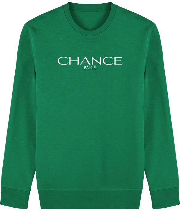 Chance Paris Men Sweatshirt White Embroidered Logo