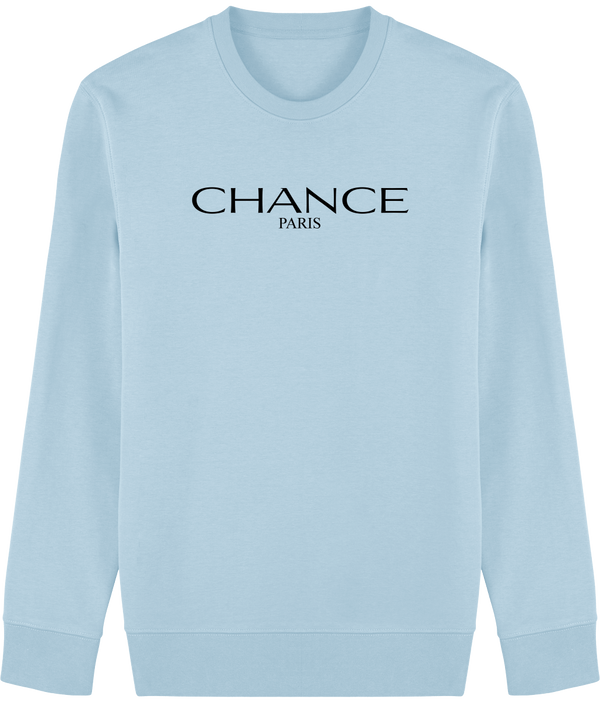 Chance Paris Men Sweatshirt Black Embroidered Logo
