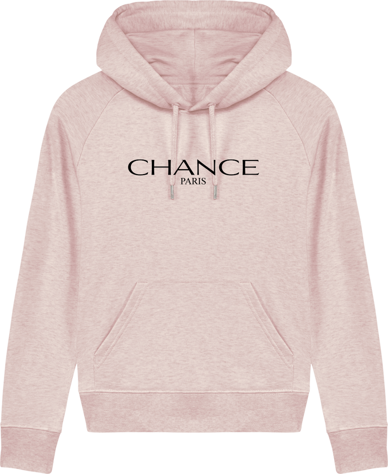 Chance Paris Women Medium Fit Hoodie Black Embroidered Logo