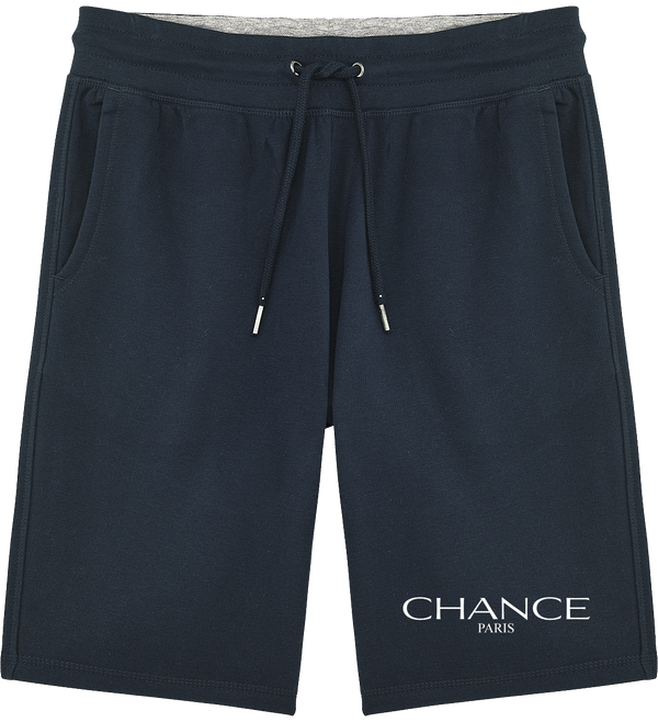 Chance Paris Men Sweatshorts White Embroidered Logo