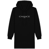Chance Paris Women Hoodie Dress White Embroidered Logo