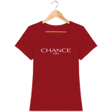 Chance Paris Women Fitted T-Shirt White Embroidered Logo