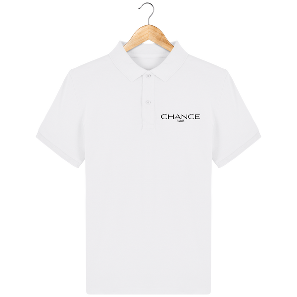 Chance Paris Men Polo Black Embroidered Logo