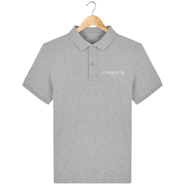 Chance Paris Men Polo White Embroidered Logo