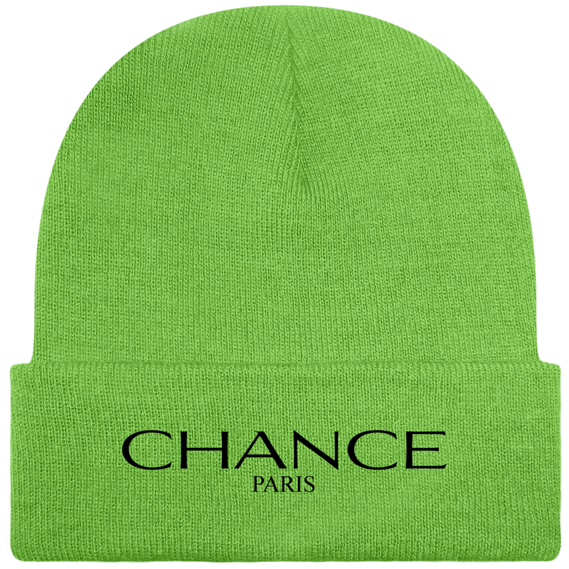 Chance Paris Beanie Black Embroidered Logo