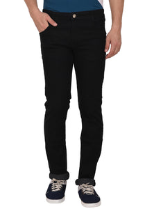 Studio Nexx Men's Black Relaxed Fit Jeans