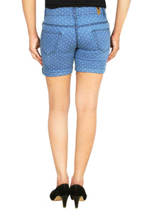 Studio Nexx Women Printed Denim Shorts