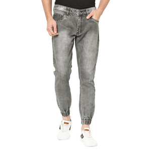 Studio Nexx Men's Grey Slim Fit Denim Jogger