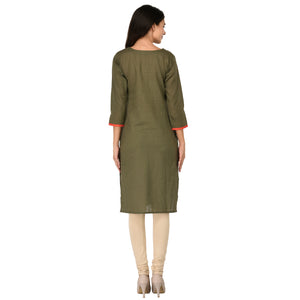 Studio Nexx Women Casual Solid Straight Kurti