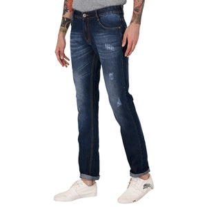 Studio Nexx Men's Dark Blue Slim Fit Jeans