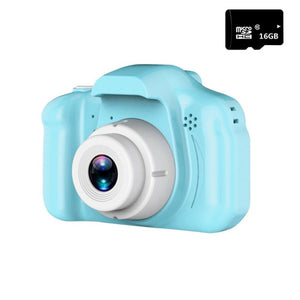 Real Mini Camera Kids Toys Cartoon 2 Inch HD Screen Digital Cameras Video Recorder Camcorder Language Switching Timed Shooting