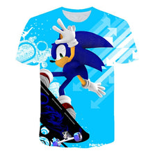 Load image into Gallery viewer, Summer Short Sleeve 3D Cartoon Printed sonic the hedgehog T Shirt