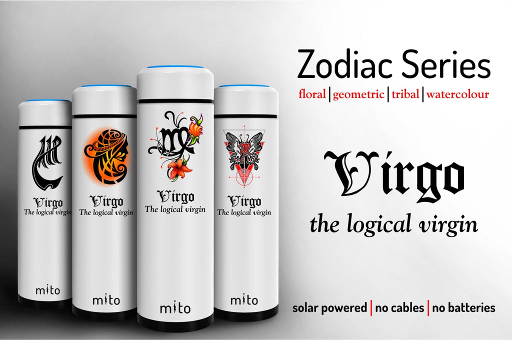 Mito Solar Powered Water Bottles - Zodiac Virgo