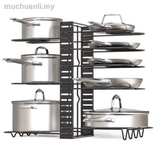 Load image into Gallery viewer,  8 LAYER PAN ORGANIZER POT RACK LID HOLDER