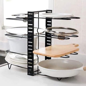 8 LAYER PAN ORGANIZER POT RACK LID HOLDER
