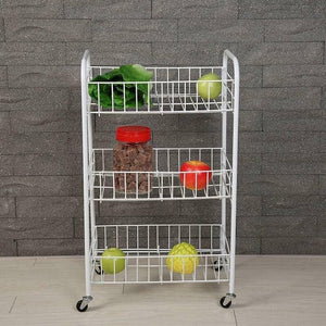 HI-TECH VINYL COATED WIRE 3 TIER STORAGE CART KITCHEN WARE