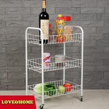 Load image into Gallery viewer, HI-TECH VINYL COATED WIRE 3 TIER STORAGE CART KITCHEN WARE